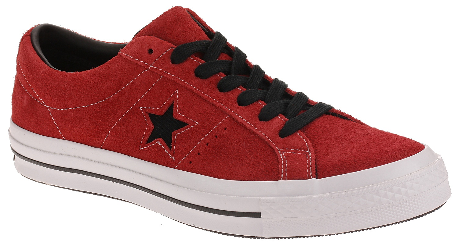 cc14ff58c57aef shoes Converse One Star OX - 163246 Enamel Red Black White - Snowboard  shop