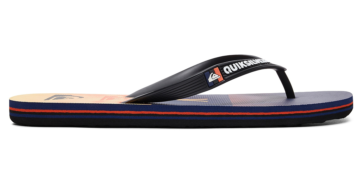 ... flip flops Quiksilver Molokai Wordblock Volley - XKNB Black Orange Blue  - men ... 1b607cae8e7