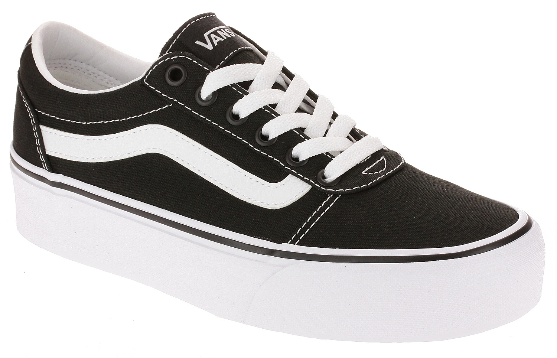 topánky Vans Ward Platform - Canvas/Black/White