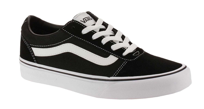 topánky Vans Ward - Suede Canvas Black White - Snowboard shop ... 07ad2124a2