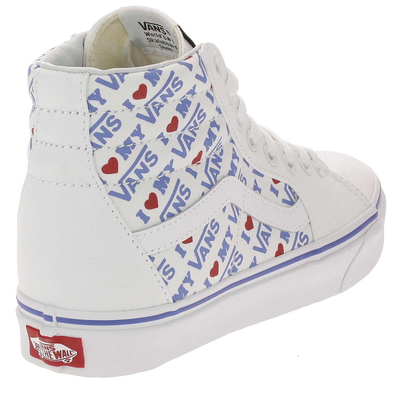 shoes Vans Sk8-Hi - I Heart Vans True White True White - Snowboard ... 1afbdb8c4
