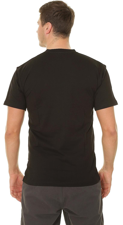 tričko Vans Left Chest Logo - Black/White