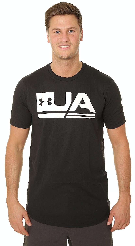 076ff9421 T-Shirt Under Armour Sportstyle Drop Hem - 001/Black - men´s - Snowboard  shop, skateshop - snowboard-online.eu