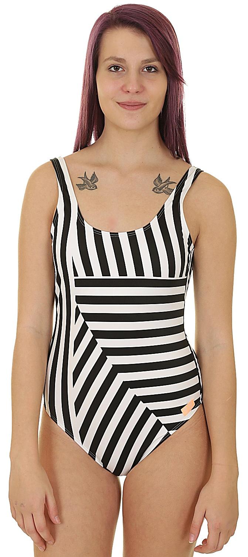 318b4a2553 plavky Roxy Pop Surf Moderate Basic One Piece - XKKW True Black Victoria  Stripes Sw