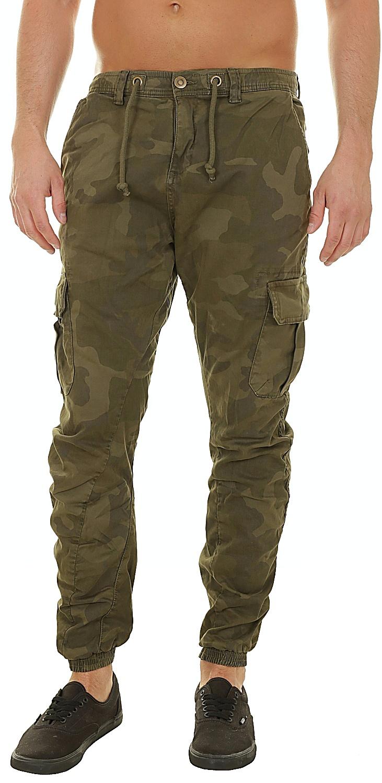 a3082c7b4951f pants Urban Classics Cargo Jogging/TB1611 - Olive Camouflage - men´s -  Snowboard shop, skateshop - snowboard-online.eu