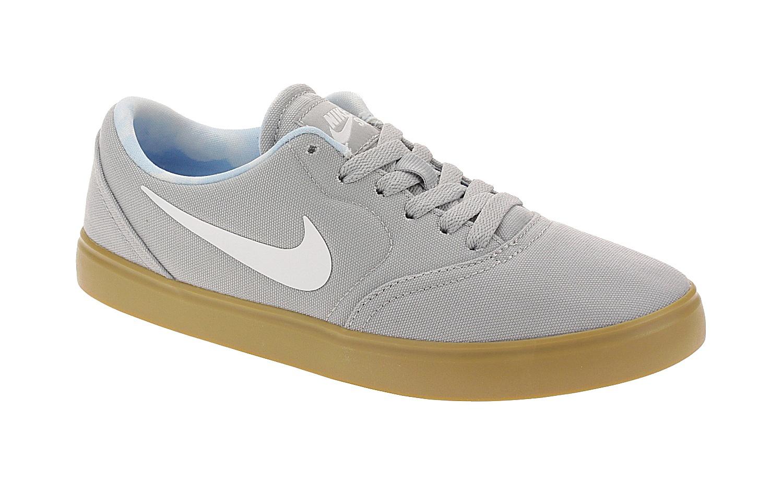 boty Nike SB Check Premium Print GS - Wolf Gray/White/Gum Light Brown 38.5