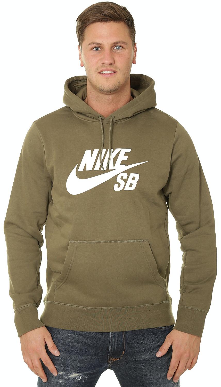 c281da9a5c mikina Nike SB Icon Essential Pullover - 222 Medium Olive White L