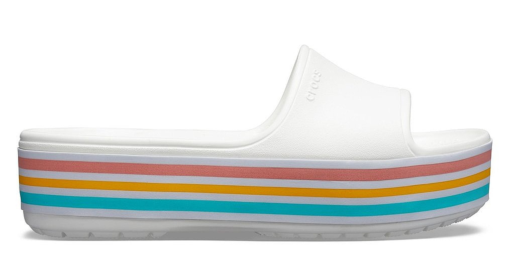 shoes Crocs Crocband Platform Bold Color - Slide White - women´s