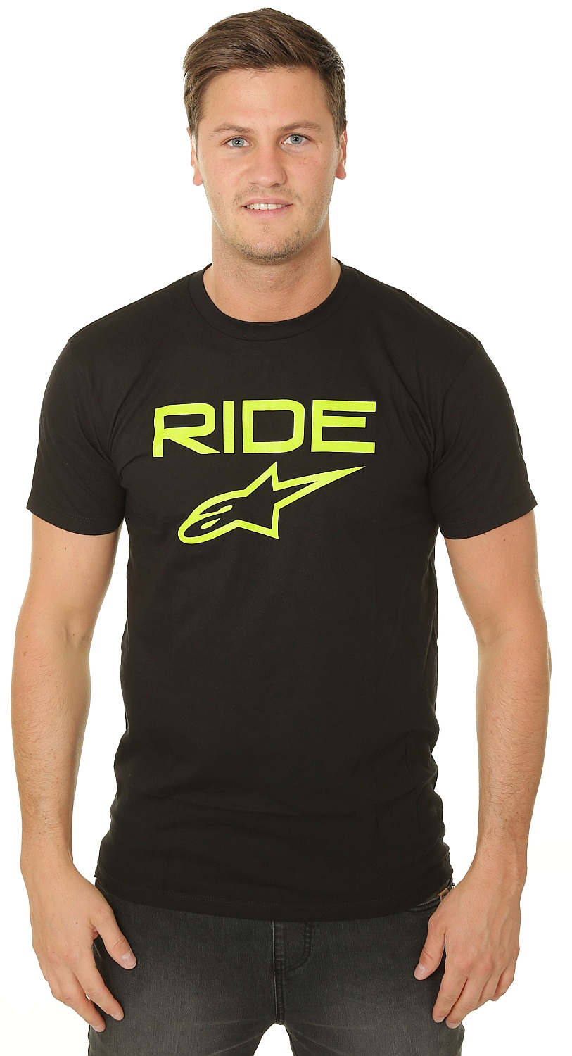 tričko Alpinestars Ride 2.0 - Black/Green XL