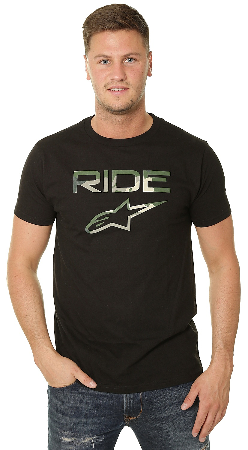 tričko Alpinestars Ride 2.0 Camo - Black XL