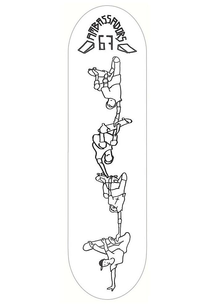 skateboardová deska Ambassadors Javor - Tower 7.875/H