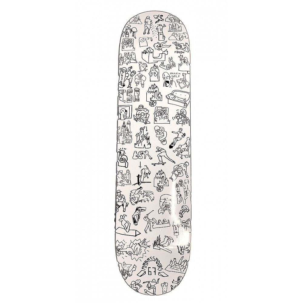 skateboardová deska Ambassadors Javor - Followers 8.50/H