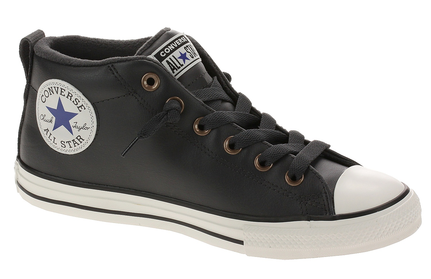 boty Converse Chuck Taylor All Star Street Red Rover Mid - 665148/Almost Black/Blue/Black 35