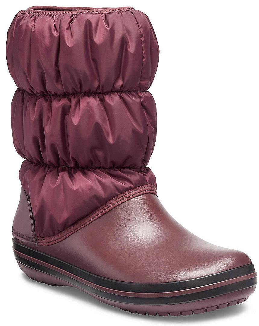 boty Crocs Winter Puff Boot - Burgundy/Black 37/38