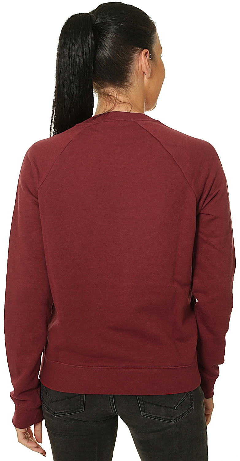 mikina Nike Sportswear Essential Crew Fleece HBR - 677/Team Red/White