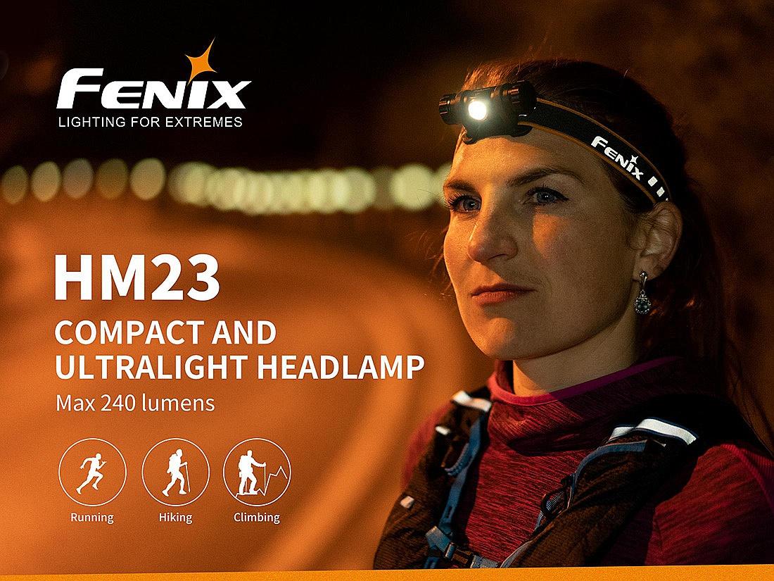 čelovka Fenix HM23 - Black