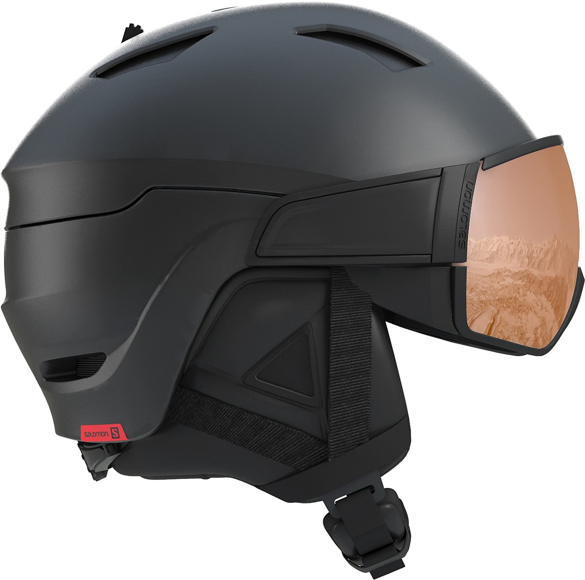 helma Salomon Driver S - Black/Red Accent/Univrsal M