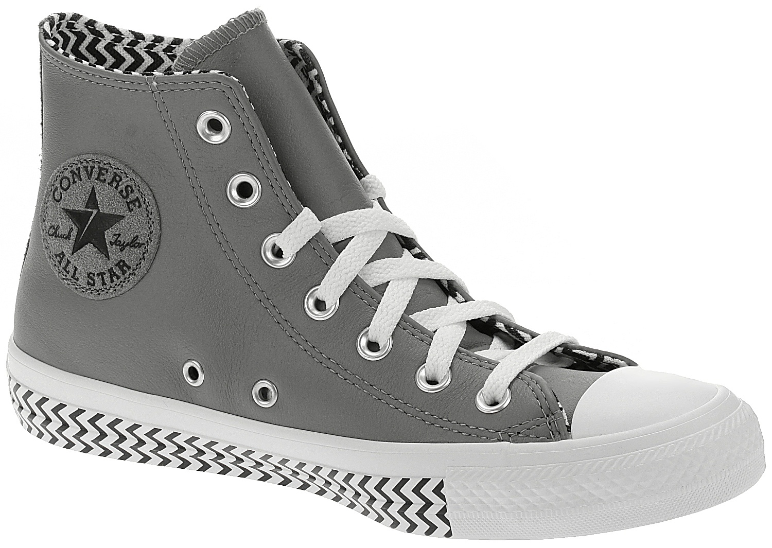 boty Converse Chuck Taylor All Star Vltg Leather Hi - 566130/Mason/Black/White 39