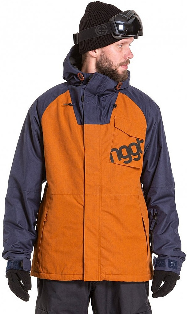 bunda Nugget Rover - B/Rust Ripstop/Navy Heather L