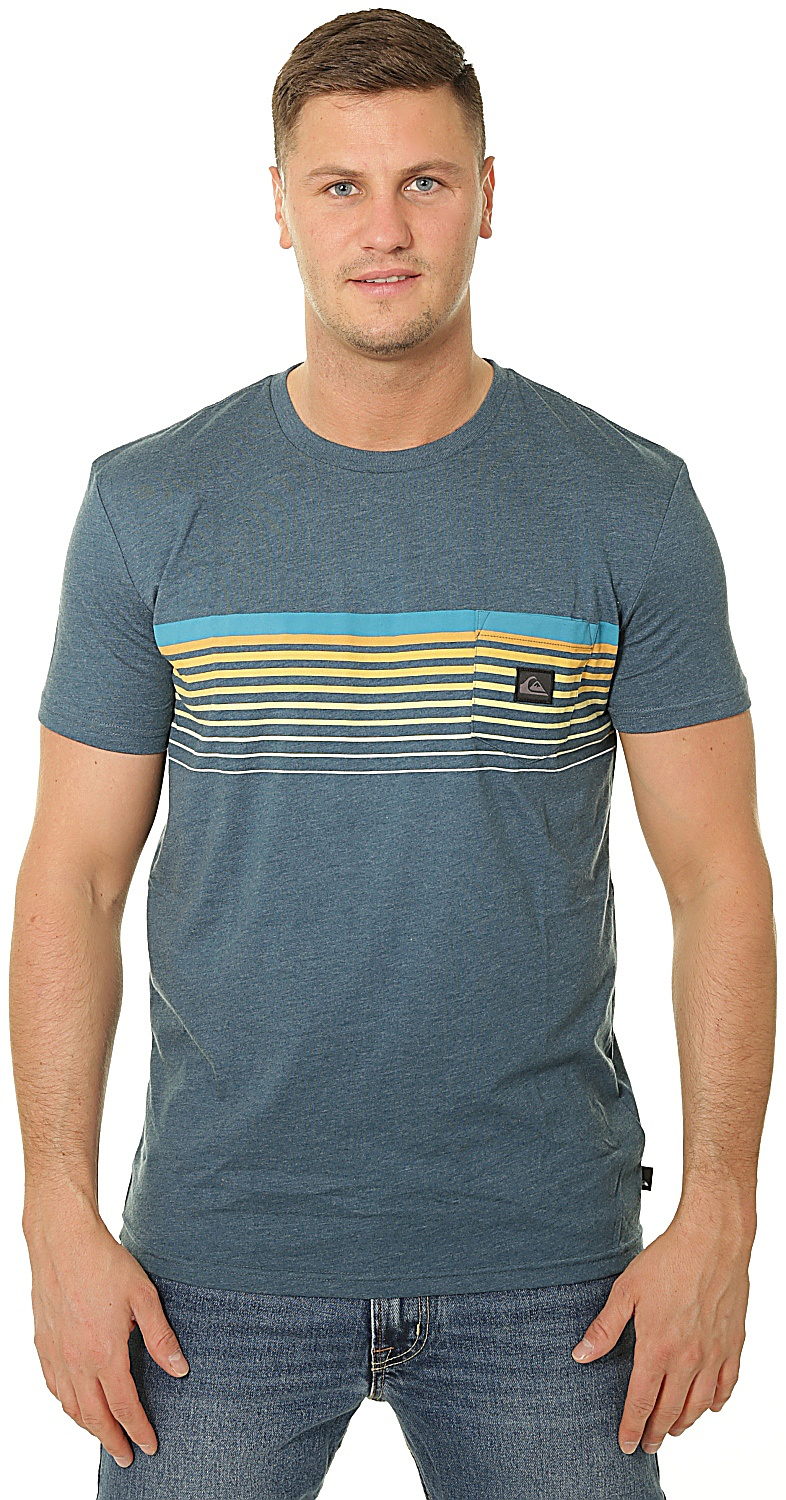 T-Shirt Quiksilver Slab Pocket - BSMH/Majolica Blue Heather - men´s
