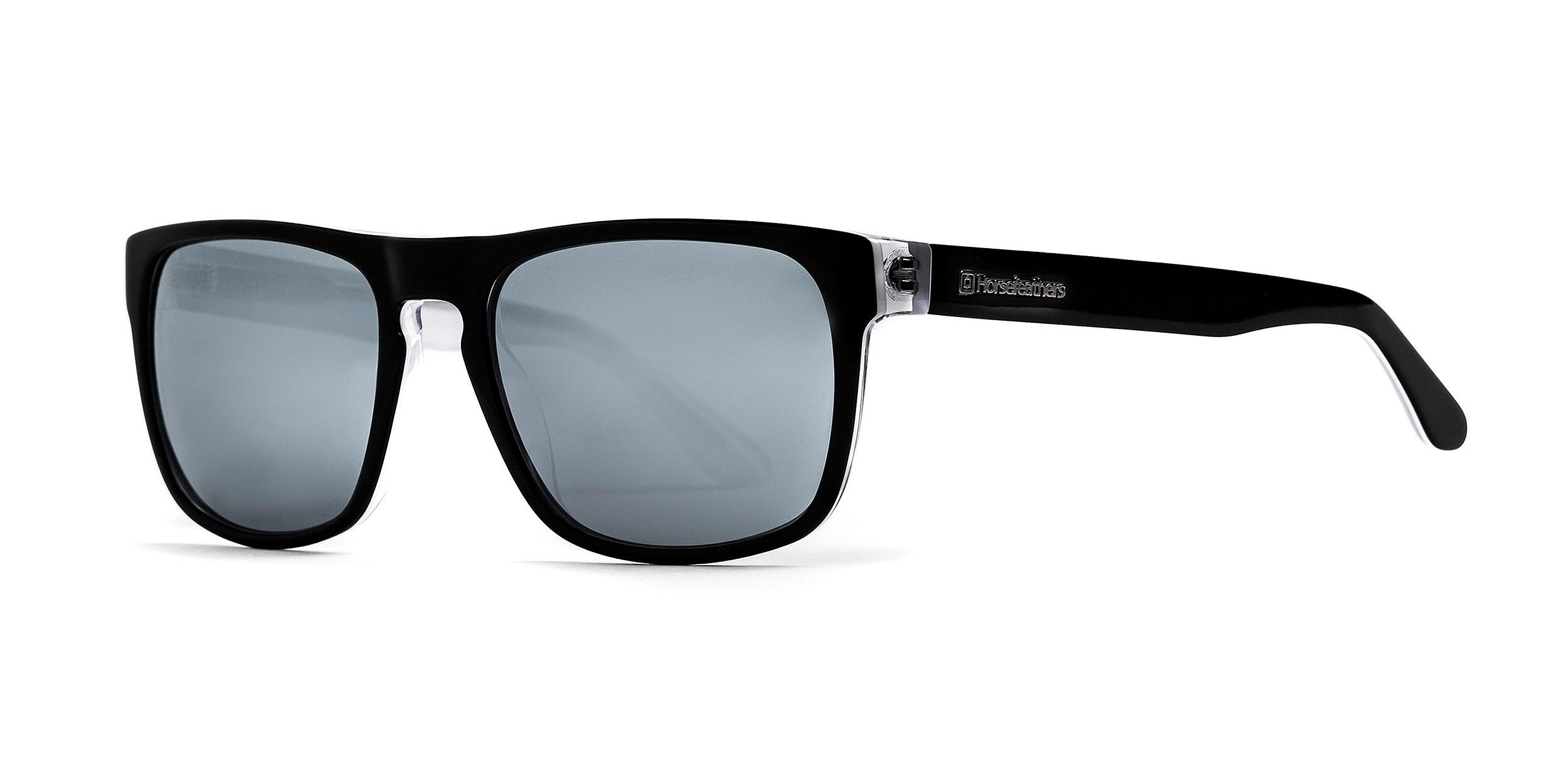 brýle Horsefeathers Keaton - Gloss Black/Mirror White/Polarized