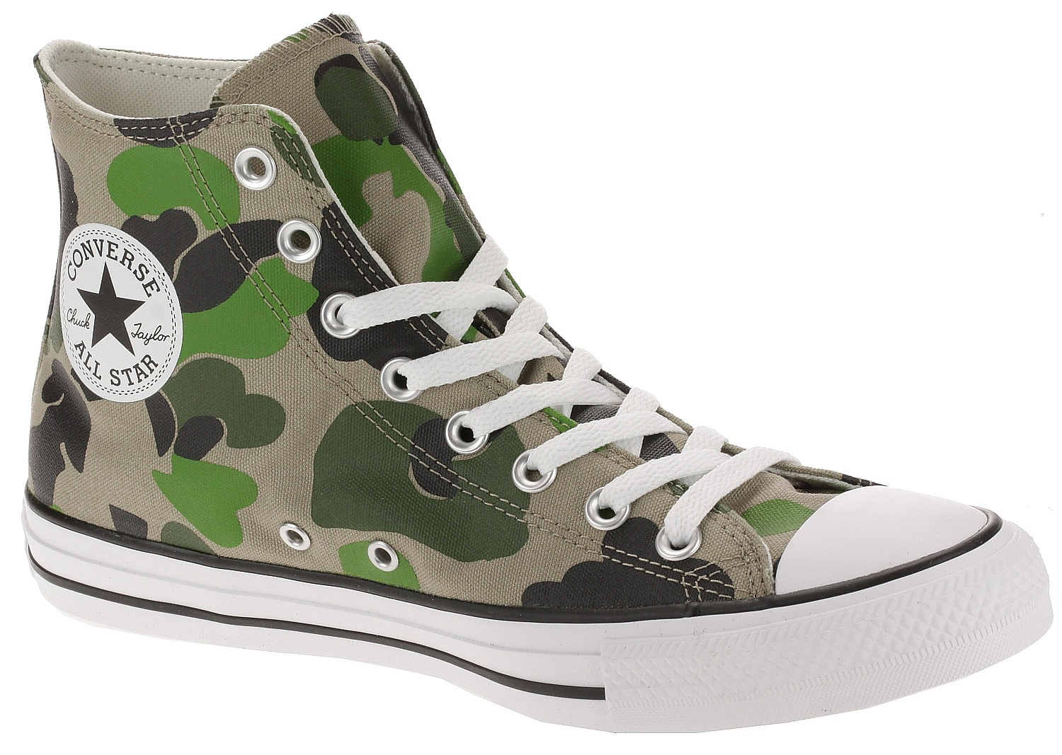 boty Converse Chuck Taylor All Star Archival Camo Hi - 166714/Black/Candied Ginger/White 42