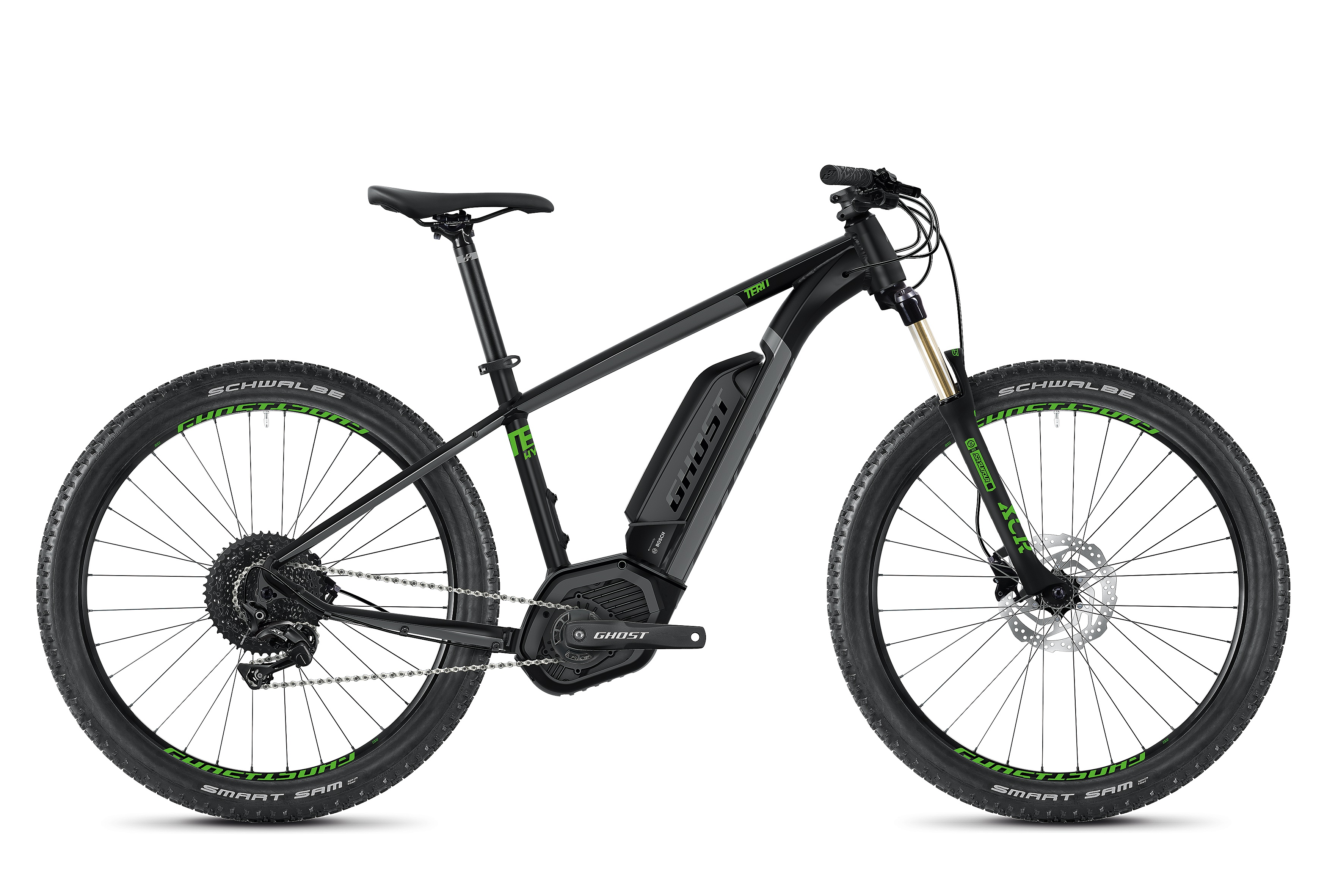 Elektrokolo Ghost Teru B4.7+ - Jet Black/Urban Gray/Riot Green XL (185-200cm)