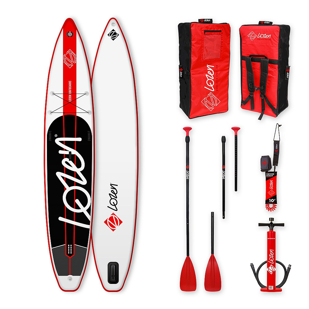 paddleboard Lozen Touring 12'6x30x6 - White/Red One Size