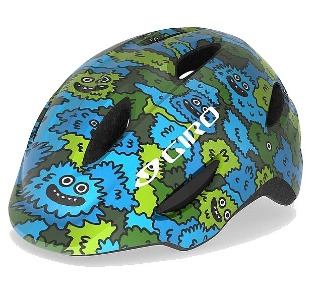 helma Giro Scamp - Blue/Green Creature Camo 49-53 cm