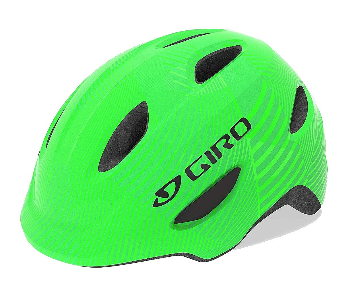 helma Giro Scamp - Green/Lime Lines 49-53 cm