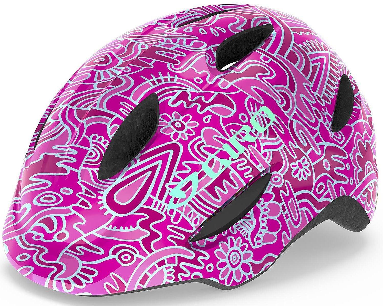 helma Giro Scamp - Pink Flower Land 49-53 cm