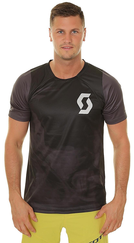 tričko Scott Trail Vertic - Black/Dark Gray L
