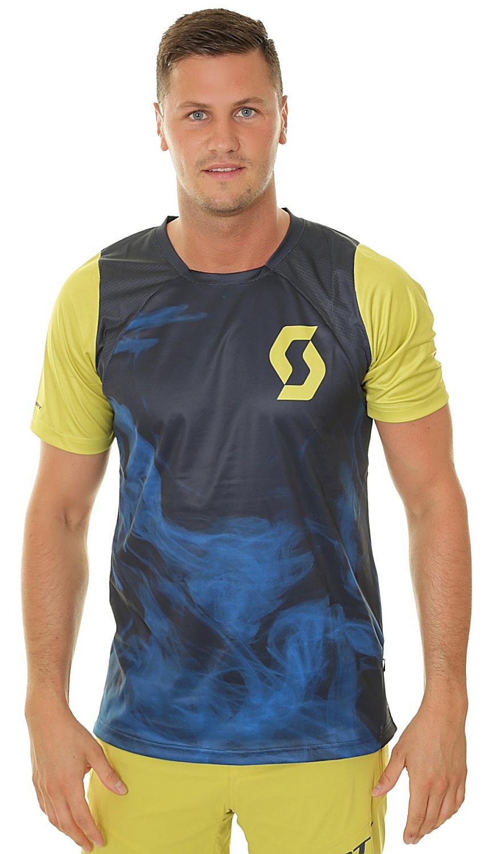 tričko Scott Trail Vertic - Nightfall Blue/Lemongrass Yellow L