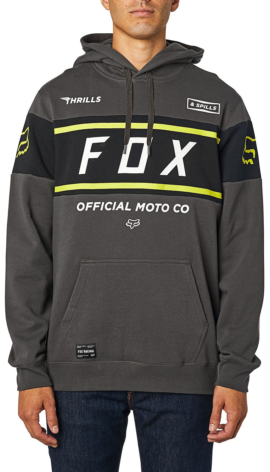 mikina Fox Official Pullover - Smoky M