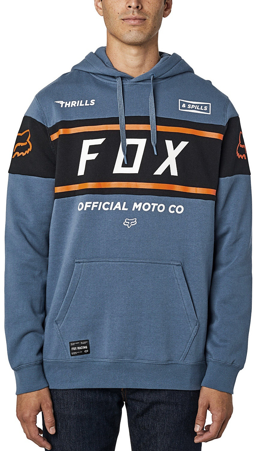mikina Fox Official Pullover - Blue Steel M