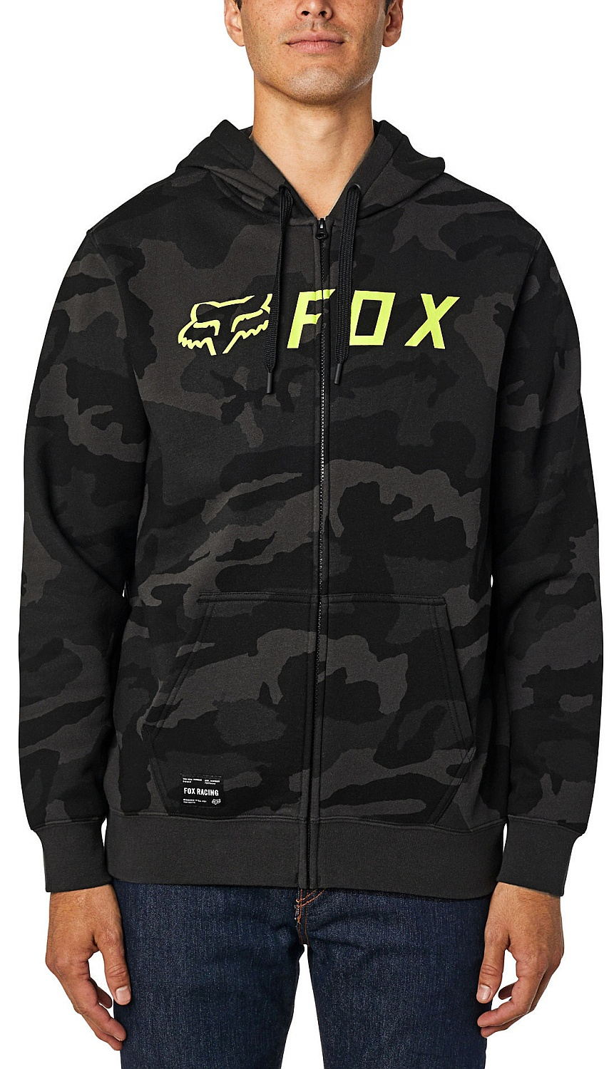 mikina Fox Apex Camo Zip - Black Camo M
