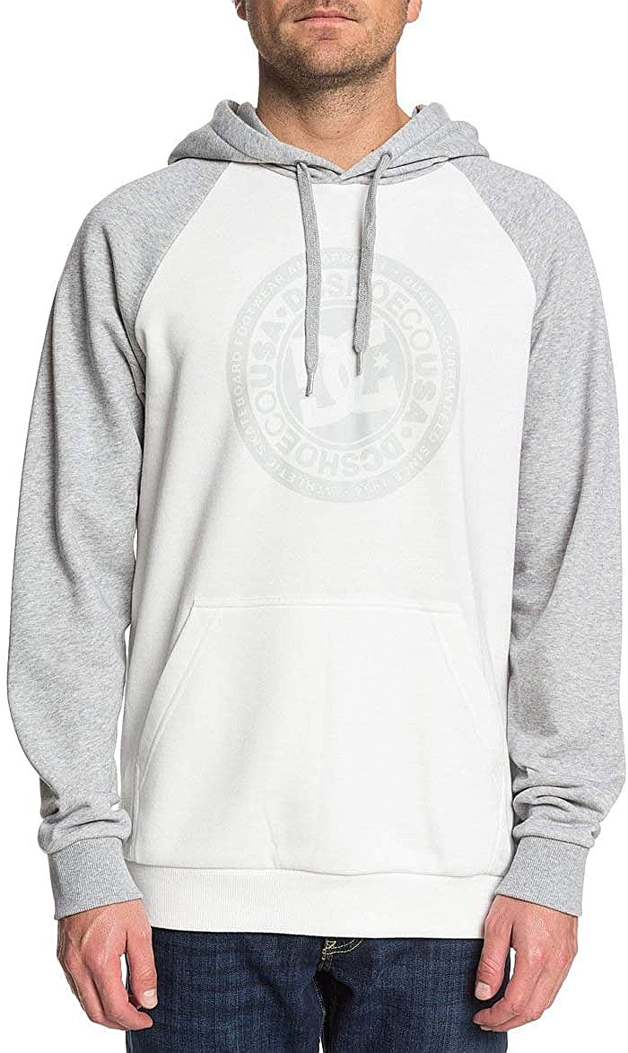 mikina DC Circle Star PH Raglan - XWWS/Snow White/Grey Heather L