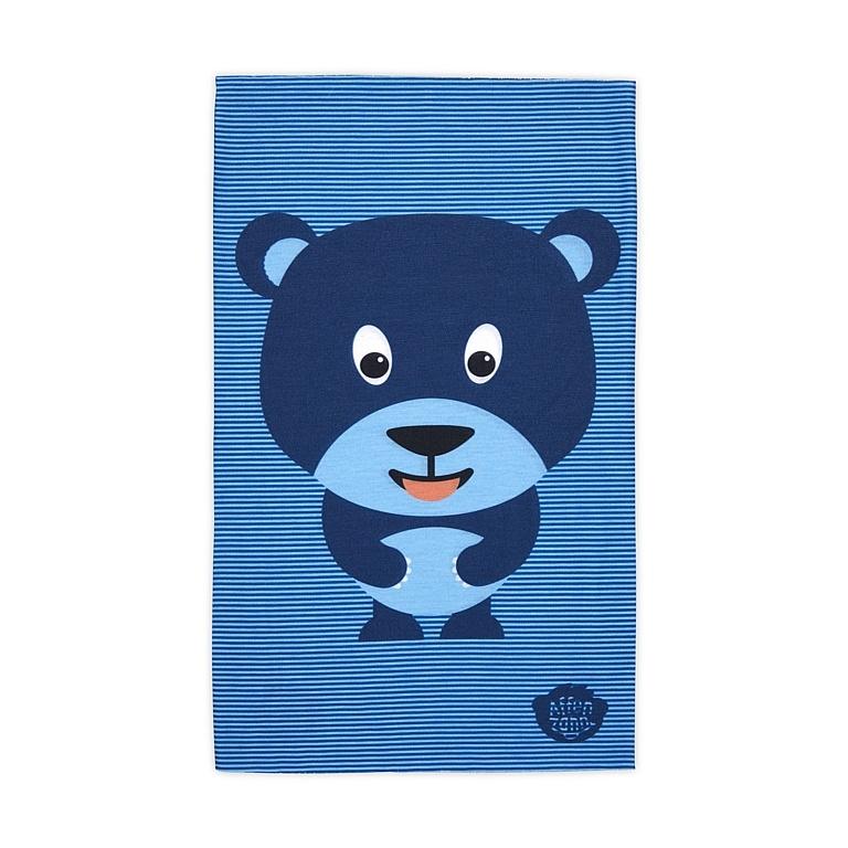šátek Affenzahn Bobo Bear - Blue one size