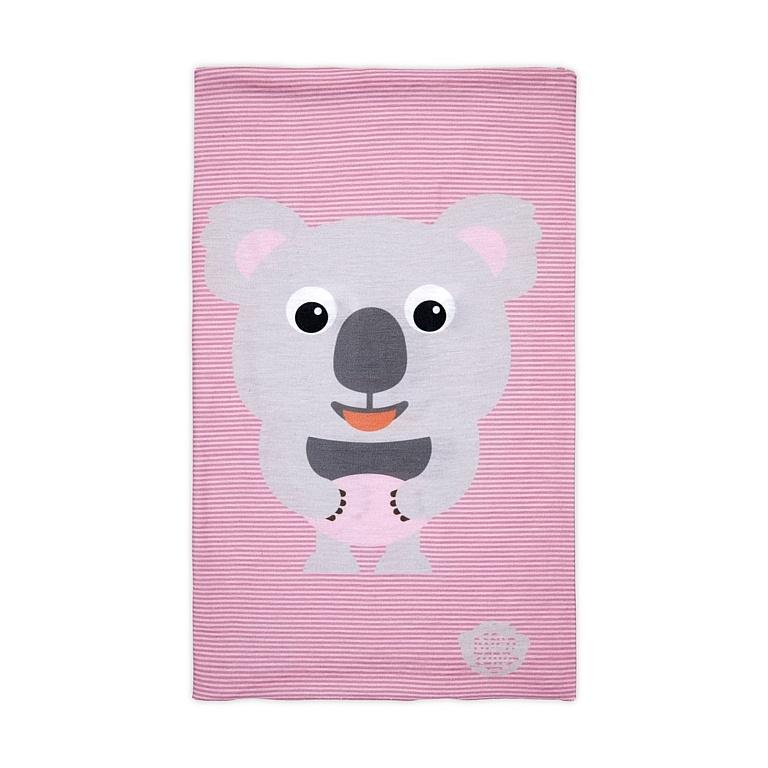 šátek Affenzahn Karla Koala - Grey/Pink one size