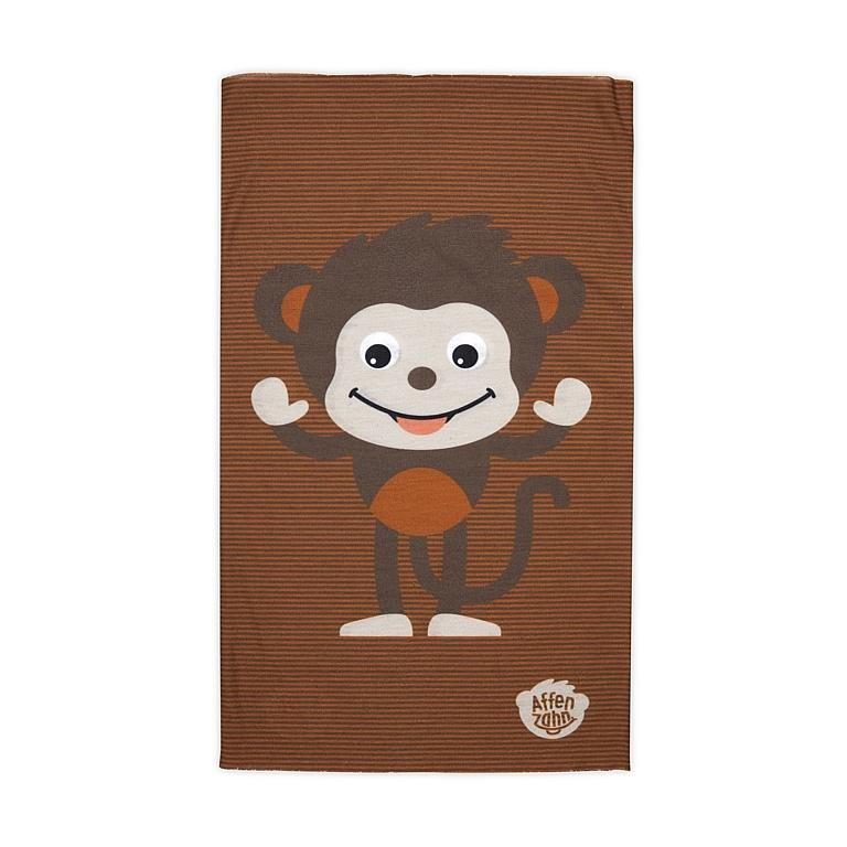 šátek Affenzahn Monkey - Brown one size