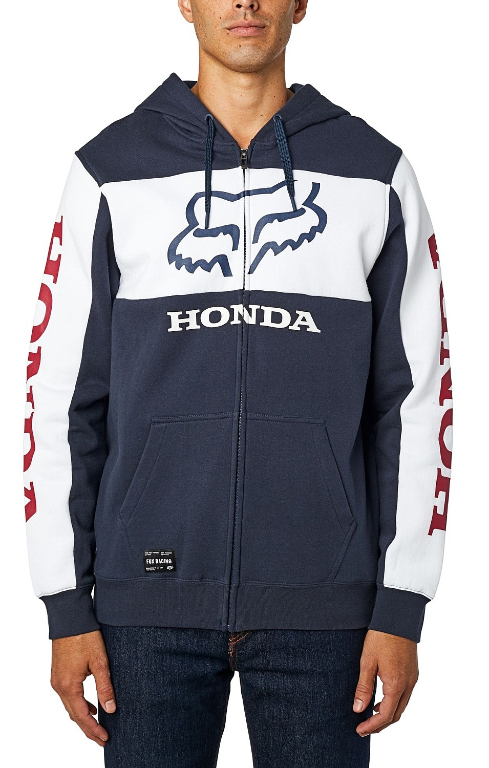 mikina Fox Honda Zip - Navy/White M
