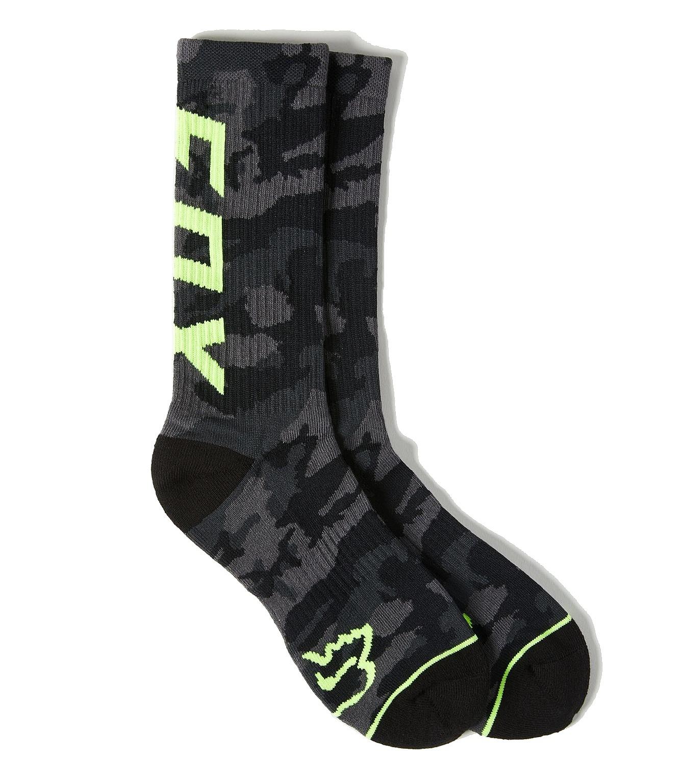 ponožky Fox Camo Cushioned Crew - Black Camo 39-42