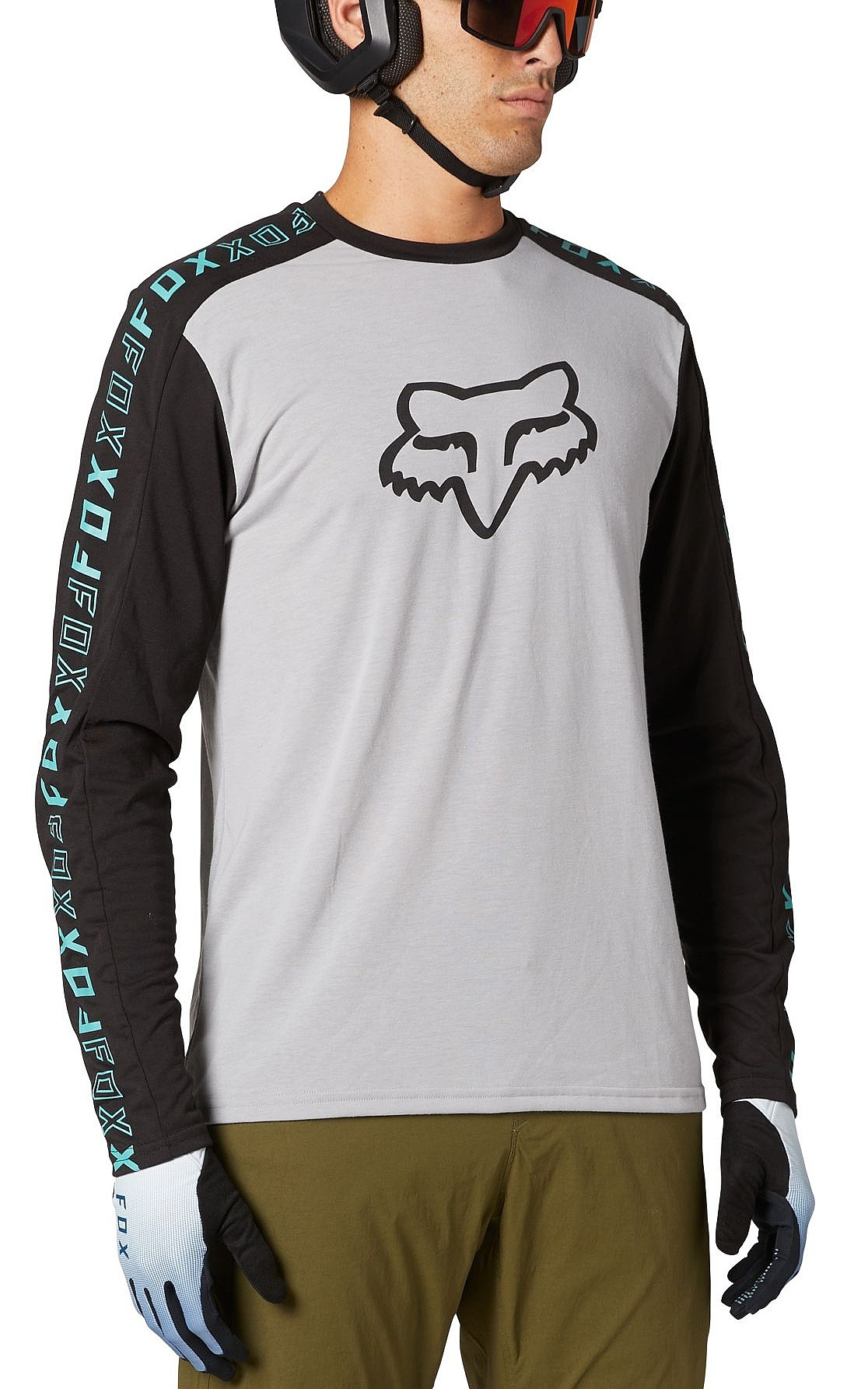 jersey Fox Ranger Drirelease Jersey LS - Steel Grey - men´s