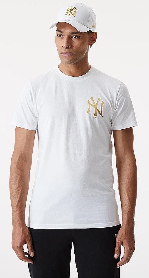 tričko New Era Metalic MLB New York Yankees - White M