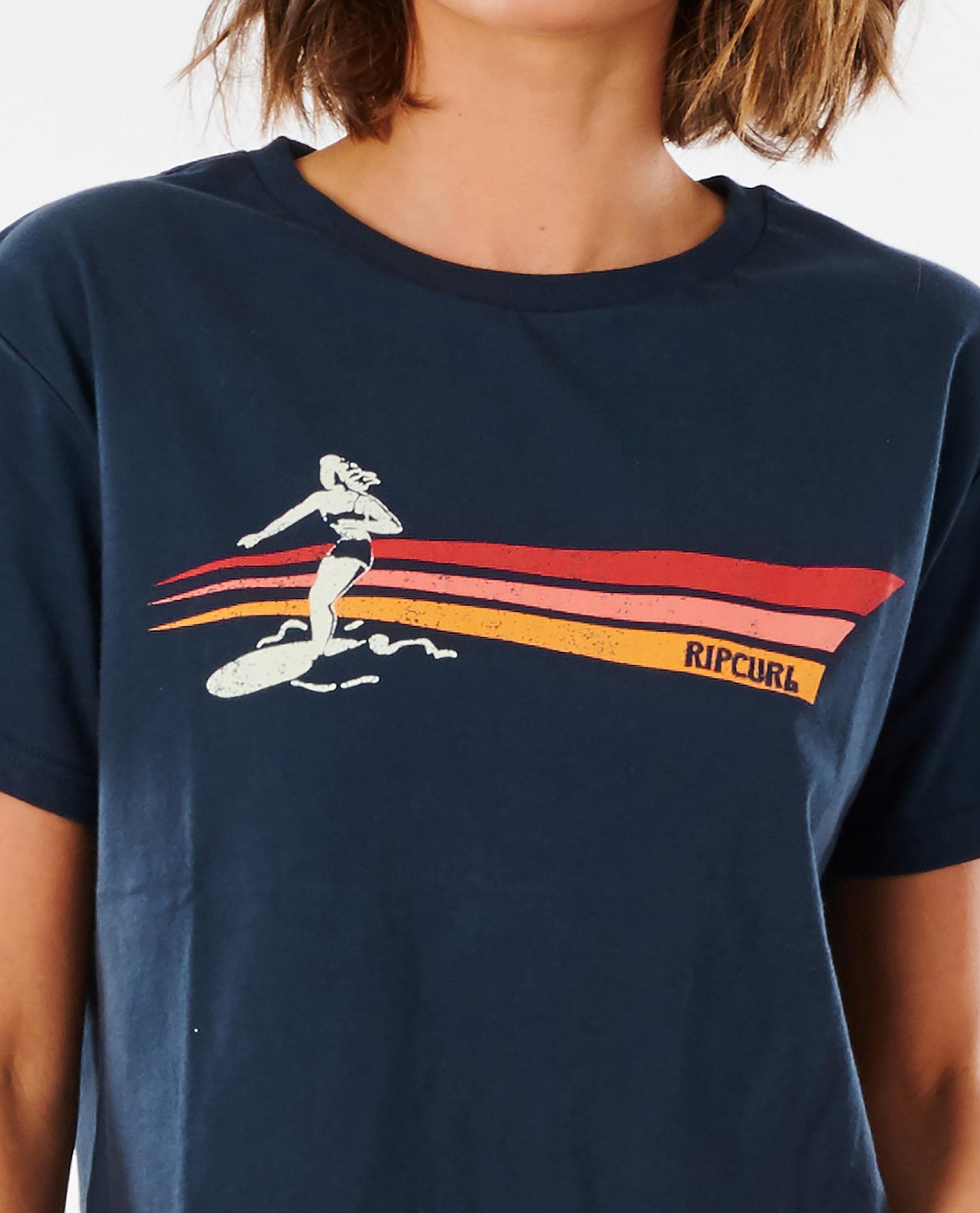 T-Shirt Rip Curl Golden State Crop - Navy - women´s