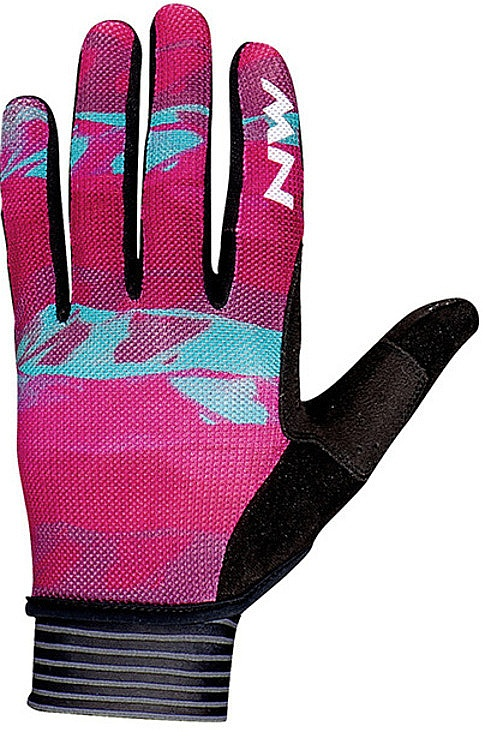 rukavice Northwave Air Full Fingers - Beetroot/Green S