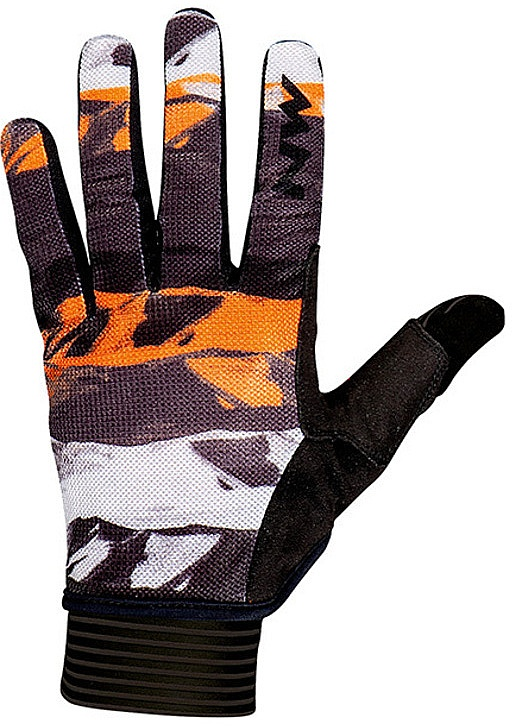 rukavice Northwave Air Full Fingers - Black/Orange/White M