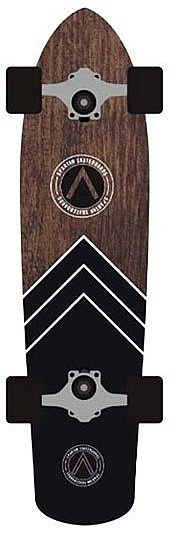 longboard Spartan Cruiser Board - Black/Brown 8x32