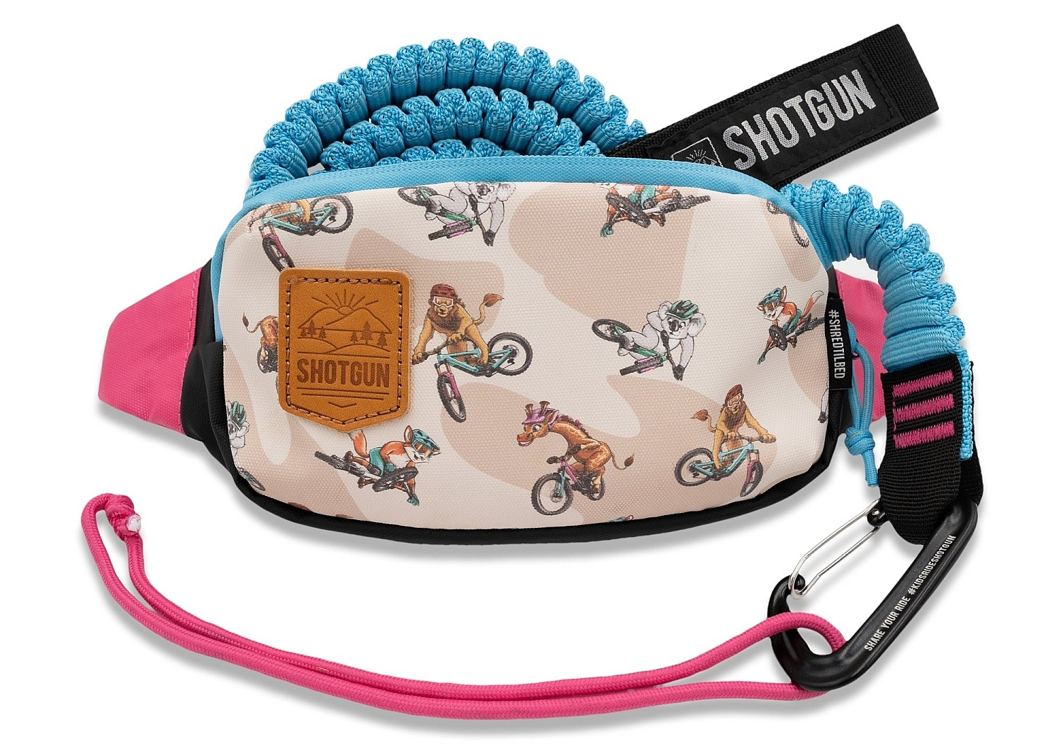lano Shotgun MTB Tow Rope And Hip Pack - Multicolor one size