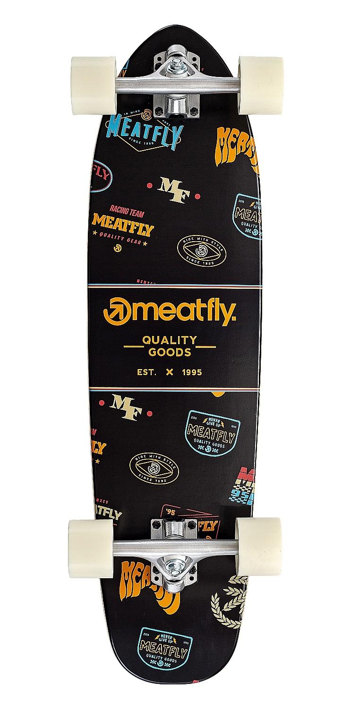 longboard Meatfly Emblem Cruiser - Black 7.80x31